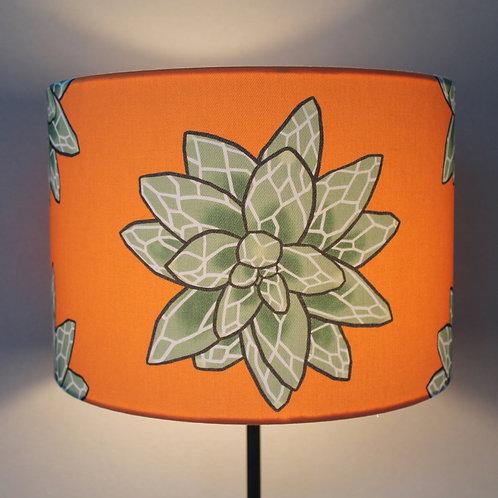 Orange lampshade switched on