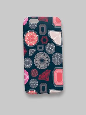 Brilliant Gems pattern Phonecase