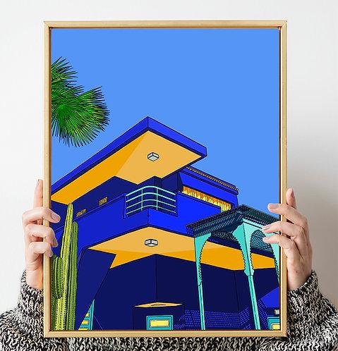 Blue sky Marrakesh Print