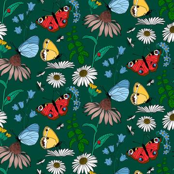 Sommaräng pattern Green