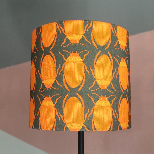 Orange bug lampshade