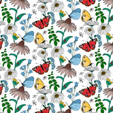 Sommaräng pattern White