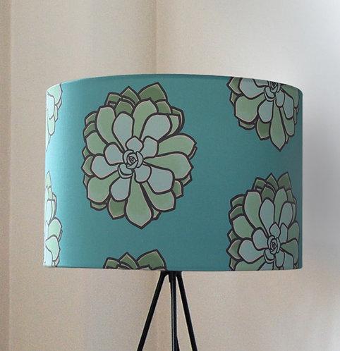 Teal Mexican Gem lampshade