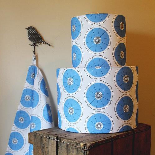 Blue bindweed pattern lampshade