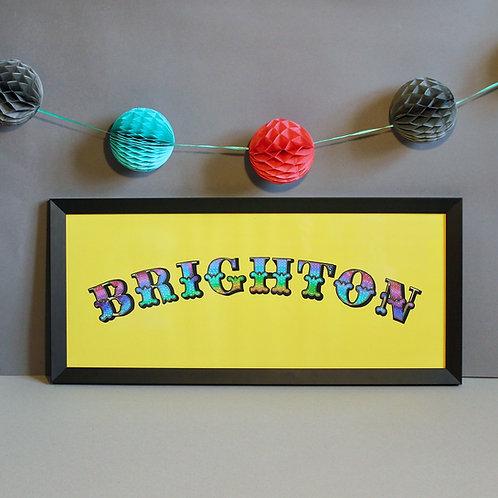 Brighton Light Sign Print