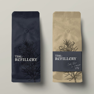 Identity design for The Refillery