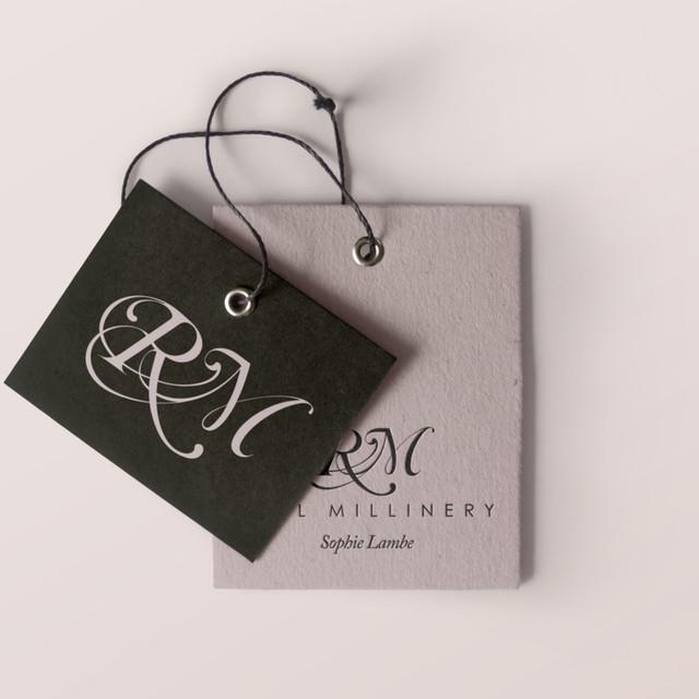 Reel Millinery label design