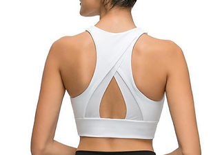 white sports bra top activewear
