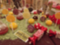 Charlie and the chocolate factory dessert table
