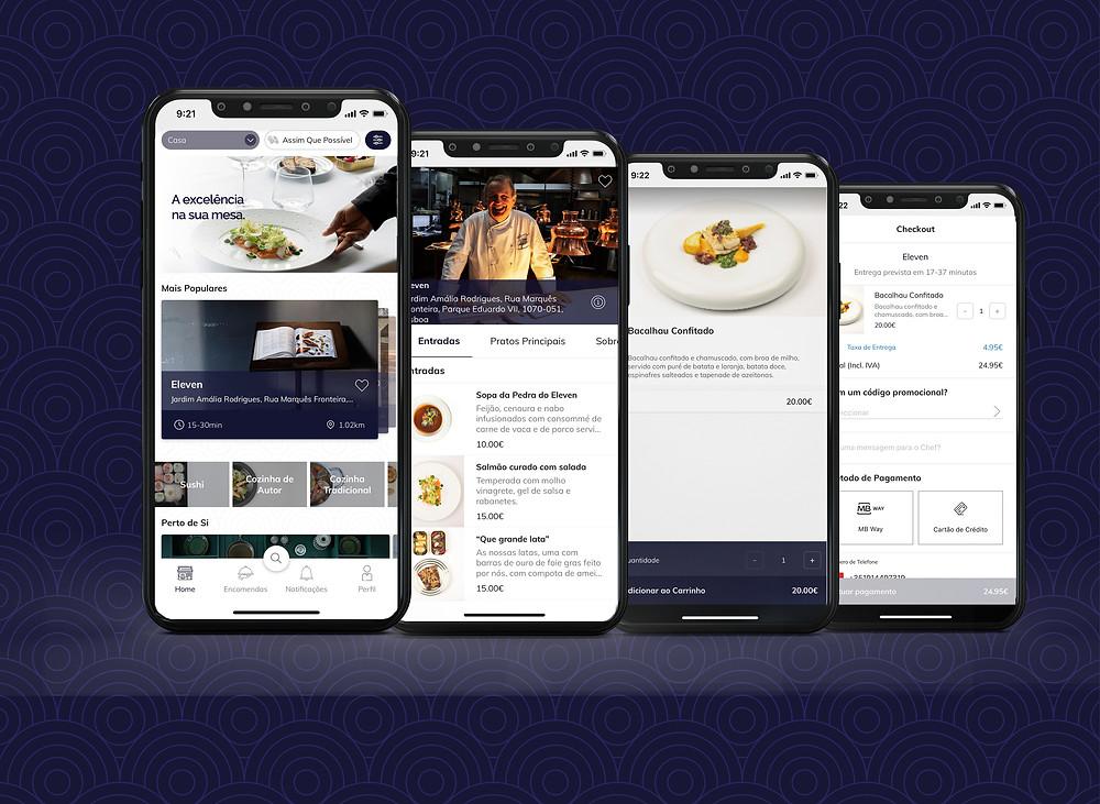 app, volup, gourmet, premium, restaurantes, chefs, home delivery, entregas ao domicílio