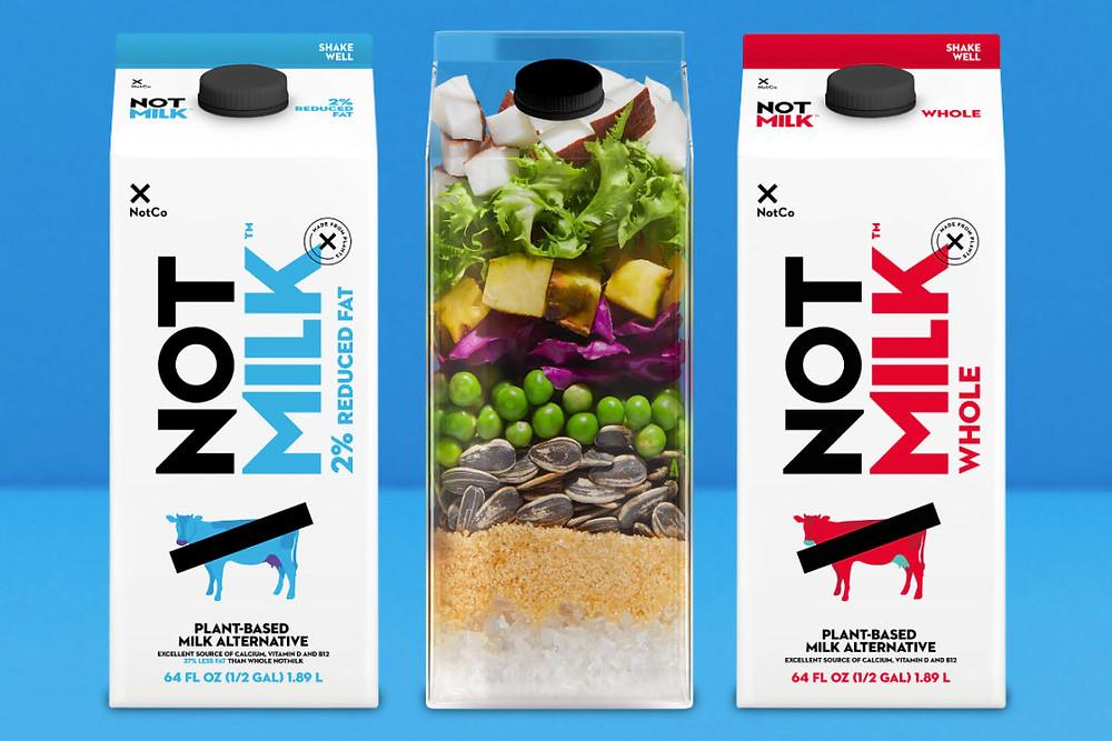 not milk, leites vegetais, bebidas vegetais, vegan, veg