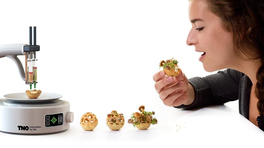 sustentabilidade, 3d printer, impressoras 3d, vegetais, legumes, alimentação, deglutição, saúde