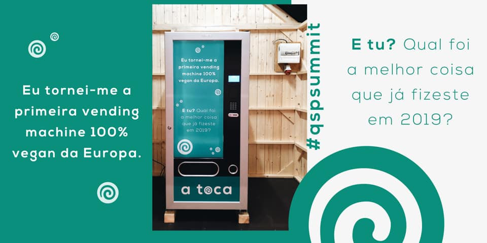Primeira vending machine vegan da Europa