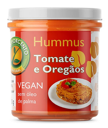 hummus, tomato, oregano, tomate