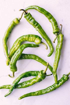 malagueta verde, green chilli pepper