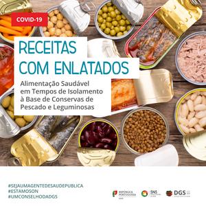 DGS, SNS, receitas, enlatados, conservas, COVID-19