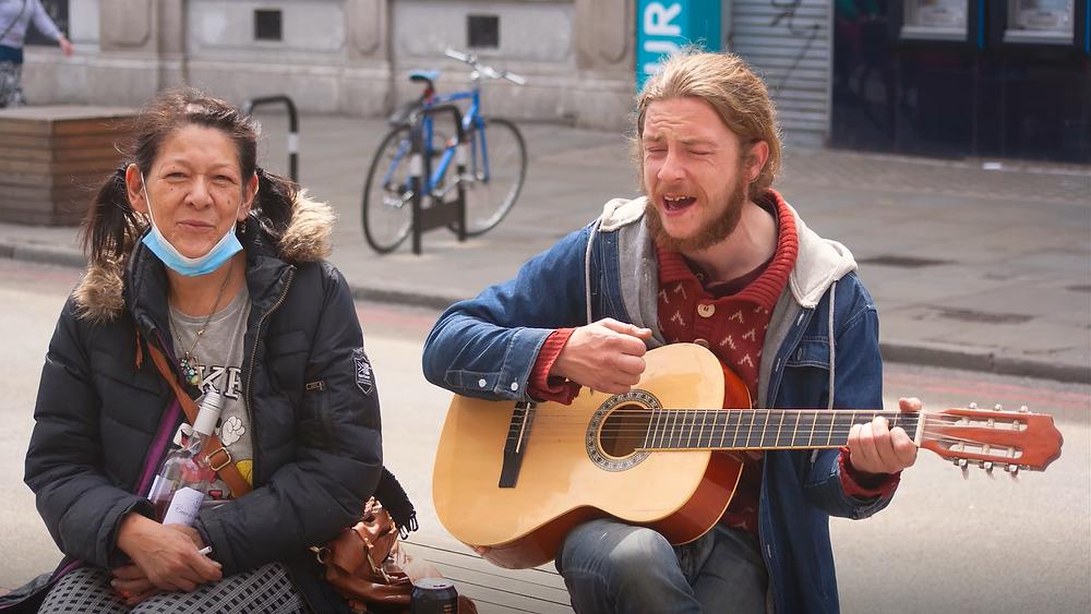 London Lockdown Camden musician and friend