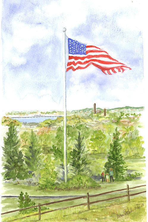 Flag Notecards by Helen Costello