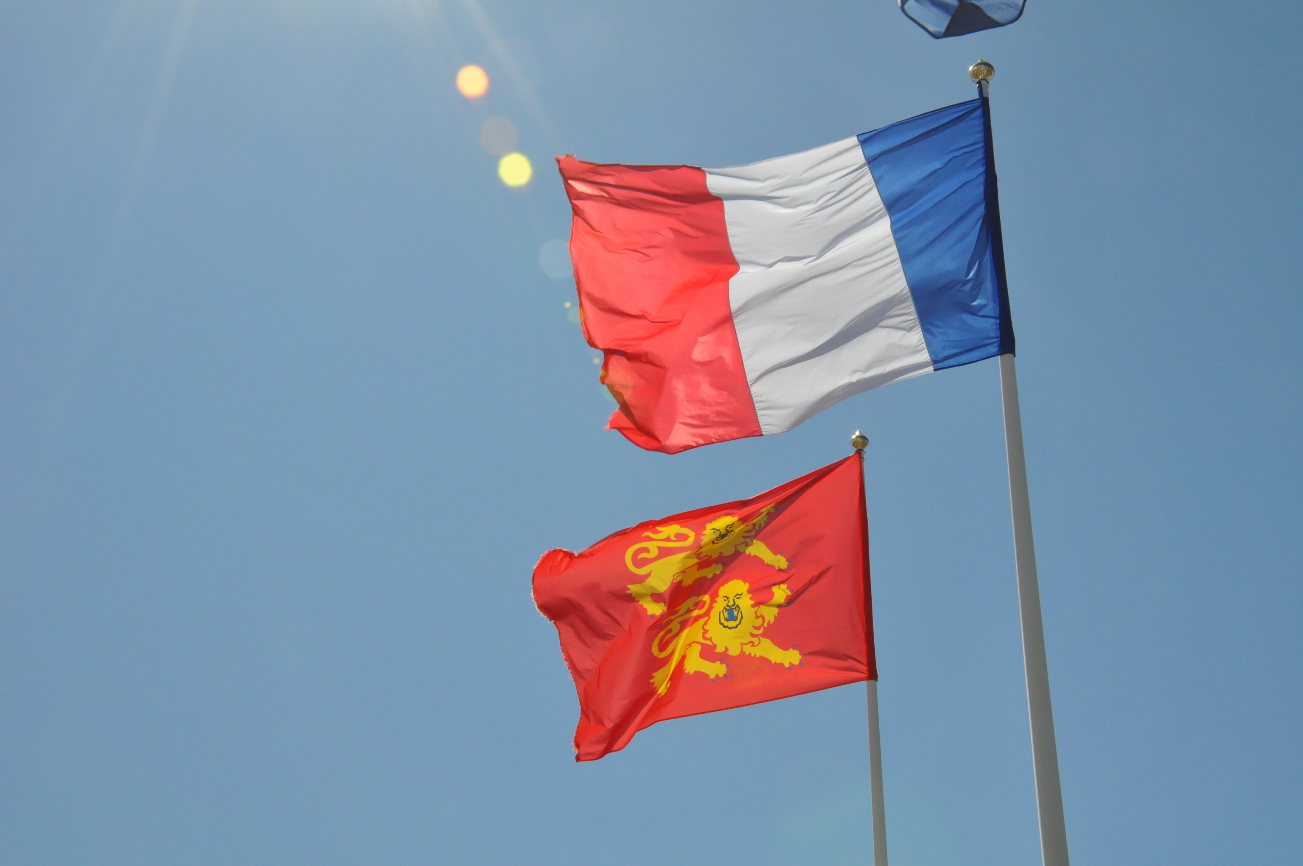 Flags of Fracce and Normandy