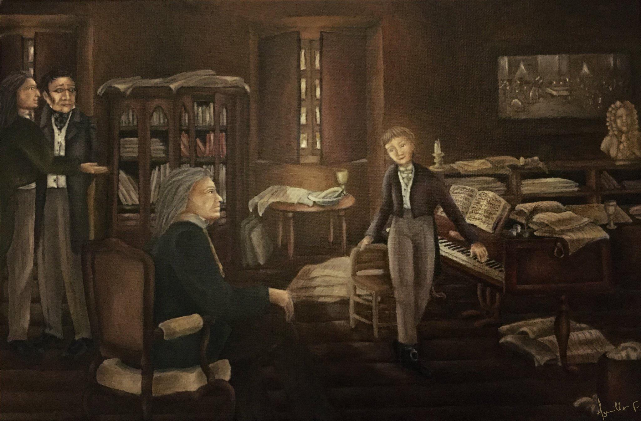 La rencontre de Liszt et Beethoven