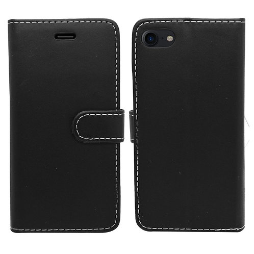 iPhone 6, 6S, 7, 8, SE 2020 Wallet Case - Black