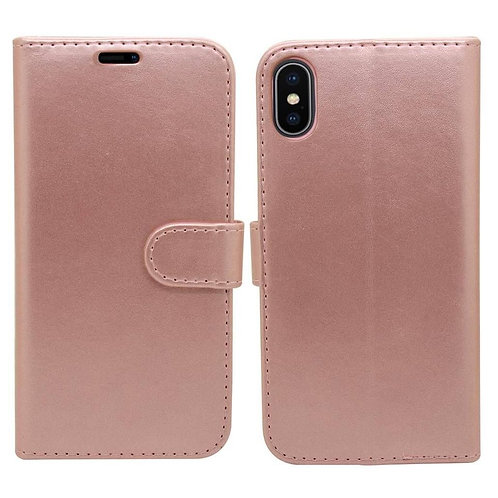 iPhone X, XS Wallet Case - Rose Gold