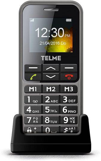 "Emporia - TELME C151 1.8"" Senior SOS Sim Free Phone - Space Grey"