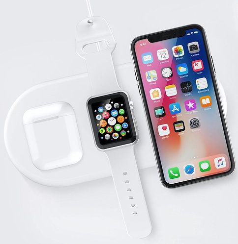 Devia - 22W Triple Wireless Charging Pad for Apple iPhone, Airpods & iWatch