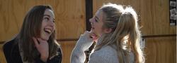 Zoe and Vik Laugh