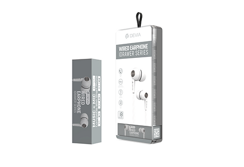 Devia - In Ear Stereo Earphones With Microphone - White