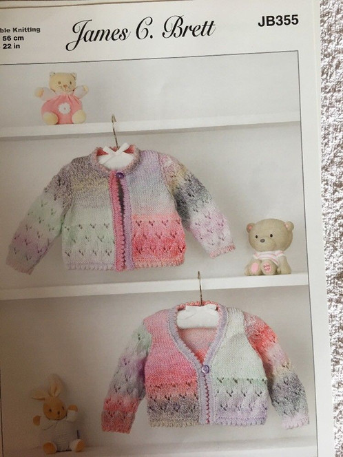 Babies Childs Double Knit Easy Cardigan Waistcoat Knitting Pattern Jb355