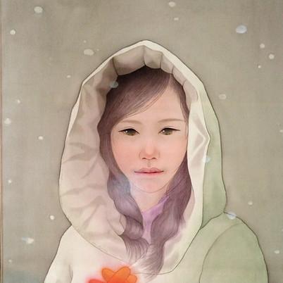 雪華(絹絵部分)