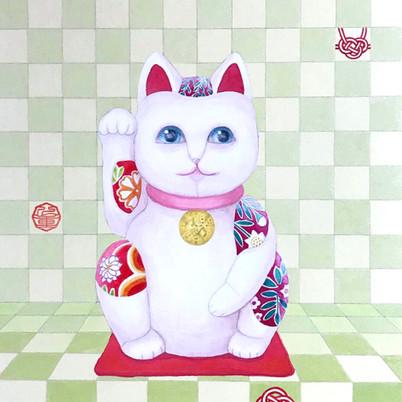 招き猫(色紙部分)