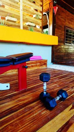 gym_flat_bench_sugars_monkey_playa_grande_surf_poshtel_hotel_surf_school_trip_surfcamp_costa_rica_ta