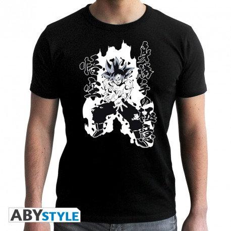 "DRAGON BALL SUPER - Tshirt ""Goku Kamehameha"" homme MC black"