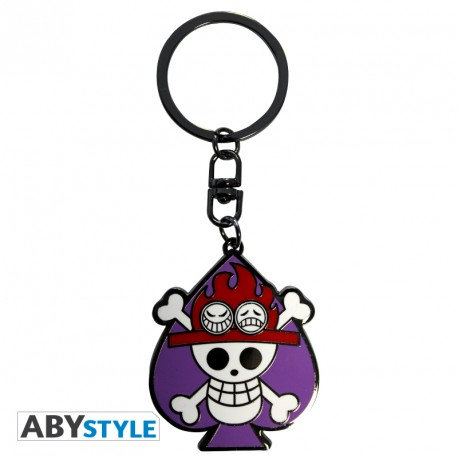 "ONE PIECE - Porte-clés ""Skull Ace"""