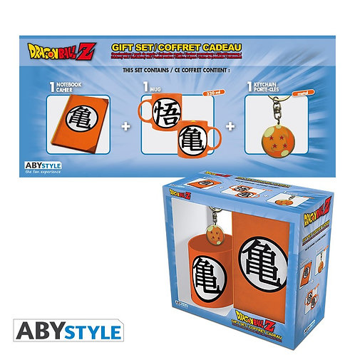 "DRAGON BALL - Pck Mug320ml + Keyring + Cahier ""Kame Symbol"""