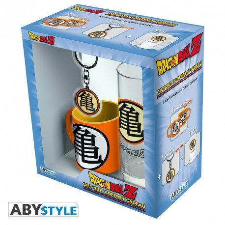 """DRAGON BALL - Pck Verre 29cl + Keyring + Mini Mug """"Kame Symbol"""""""