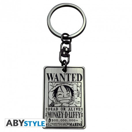 """ONE PIECE - Porte-clés """"Wanted Luffy"""""""