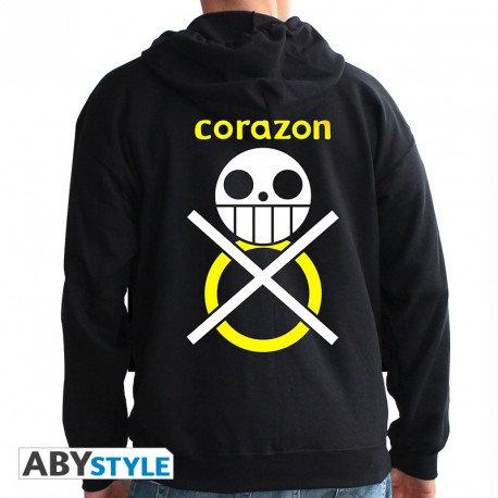 "ONE PIECE - Sweat - ""Corazon"" homme black *"