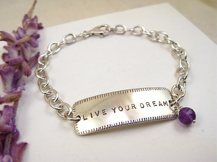 Live Your Dream Med.  ID Style Bracelet