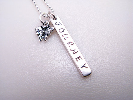 Journey Thick Tag Necklace