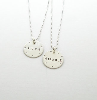 Small Round Tag Necklace