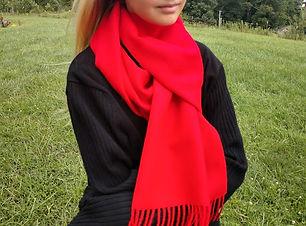 baby alpaca solid scarf