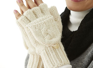 Cable Knit Glittens