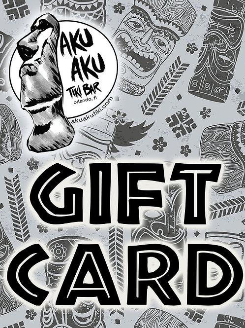 Aku Aku Gift Card