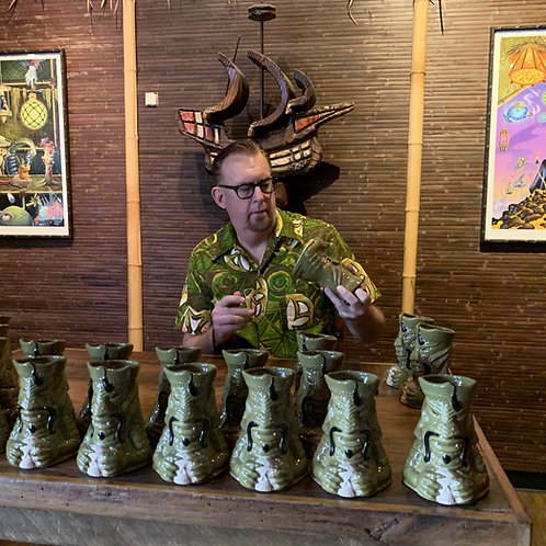 Signed by Doug Horne  Gill-Man Chu Tiki Mug
