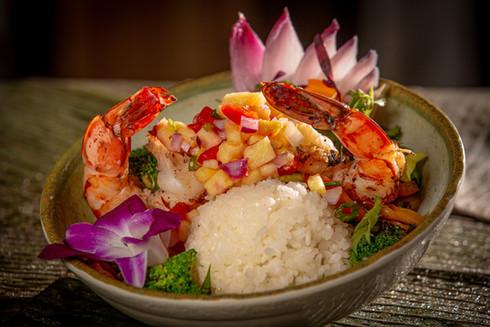 Pineapple Island Stir Fry with Shrimp
