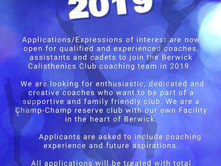Coaching applications 2019