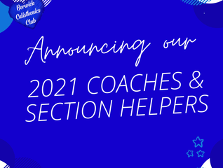 Announcing our 2021 Coaches & Section Helpers